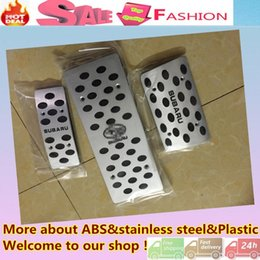 Wholesale Top Quality For Su6aru Forester car Styling cover Aluminium alloy inner foot Gas petrol oil Brake Rest lamp frame trim Pedal AT