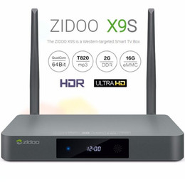 Wholesale ZIDOO X9S Android TV Box Realtek RTD1295 Quad Core G G HDMI OUT IN KODI Smart TV Russian Hebrew IPTV Europe Media Player