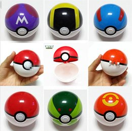 Wholesale ABS Action Anime Figures cm pikachu figure PokeBall Fairy Ball Super Ball poke Ball Kids Toys Gift styles best
