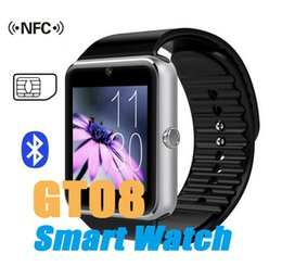 Wholesale Bluetooth Smart Watch GT08 with SIM Card Slot Health Watchs For iPhone S Samsung S7 Android IOS Smartphone Bracelet Smartwatch