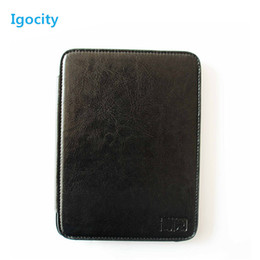 Wholesale Popular Boyue T61 E book reader case for Adult black leather case
