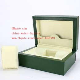 Wholesale High Quality Brand Watch Classic Green Original Box Papers Leather bag Card Gift Boxes In Watches