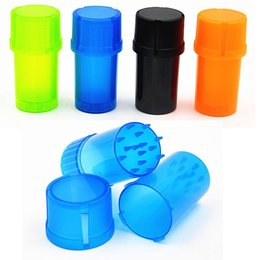 Wholesale Bottle Grinder Water Tight Air Tight Medical Grade Plastic Smell Proof Tobacco Herb plastic case Spice Plactic Herb Grinder Can Tobacco