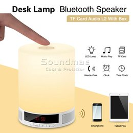 Wholesale L2 Portable Lighting Bluetooth Speaker with LED Lamp Grades Brightness Time Display Alarm Clock Support TF Card