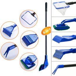 Wholesale New Hot Sale Set Of Aquarium Algae Fish Tank Glass Scrubber Cleaner Tools Water Pump Gravel Cleaning Set