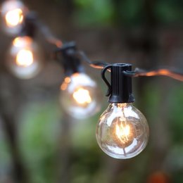 Wholesale G40 String Lights with G40 Clear Globe Bulbs Listed for Indoor Outdoor Vintage Backyard Patio Lights Outdoor String Lights