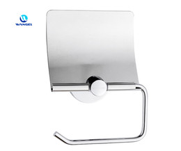Wholesale Nail free Tissue Paper Holder Rustproof Cover Cap Reuseable Waterproof High Bearing Capacity Stainless Steel Chrome