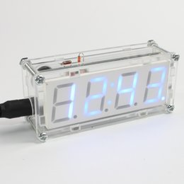 Wholesale DIY Kit LED Electronic Clock Color Microcontroller LED Digital Clock Time Thermometer