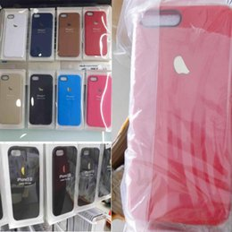 Wholesale iphone case official TPU skin tecture cases jelly matt frosted cover with apple logo for iphone s se s plus iphone7 PVC package
