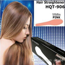 New Hair Straightener Flat Iron HQT-906 Hair iron Straightening Brush Hair Styling Tool comb With LCD PINK WHITE PINK US EU UK AU