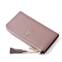 Wholesale Fashion purse wallet notecase cowhide wallets genuine leather purse leather wallets top layer leather card bag burse phone bag wallets L6690