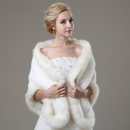 Attractive White Fur Wedding Bridal Jacket With Long Sleeve Off The Shoulder Custom Made Wrap Bridal Accessories For Wedding Dress
