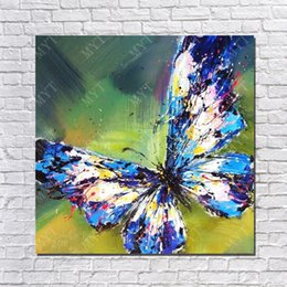 Wholesale Good quality Painting Gallery Buying Online Cheap Price Items Canvas Wall Art Paint Decoration Beautiful Butterfly Paintings