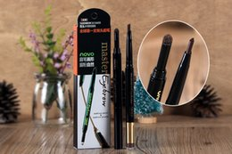 Wholesale Triangle rotation eyebrow pencil Automatic double eyebrow pencil eyebrow powder waterproof and sweat not shading