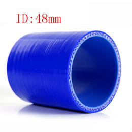"""Universal Sam** 1.89"""" ID:48mm 3-Ply Straight Silicone Intercooler Turbo Air Intake Pipe Coupler Hose blue Intercooler silicone pipe"""