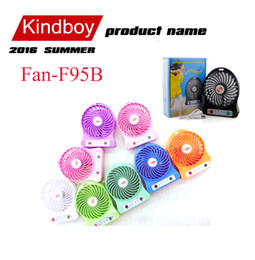 Wholesale Mini fan Protable Fan Multifunctional USB Rechargerable Kids Table Fan Battery Adjustable Speed F95B Multi Color