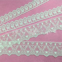 Wholesale Manufacturers selling high quality fabric lace Water soluble lace Embroidery barcode milk silk screen cloth garment accessories