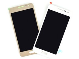 Wholesale S3 Display Screens - White LCD For Samsung galaxy A3 lcd display touch screen digitizer A300,free shipping