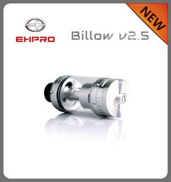 Billow v2 en Ligne-100 Authentic Ehpro Bulow V2.5 RTA reconstructible réservoir 6,0 ml Bulow V2.5 RTA atomiseur Bulow V2 V3 noir et argent