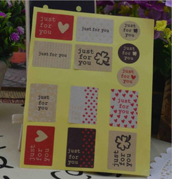 500sheets (6500pcs) Just for you Love Sticker DIY For Scrapbook Envelopes Gift Package .Paper Gift Stickers Sealing