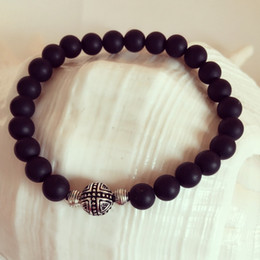 New Handmade DIY Bracelet for Men Ladies Gifts S925 Cross bead with Obsidian Natural Stone Real Shoot