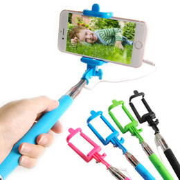 Monopod Selfie Stick with groove Tripod Cable Handheld Telescopic Monopod With Holder for iPhone Android Phone