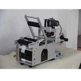 Semi-automatique bouteille ronde Etiqueteuse ajouter Codage machine d'impression date de production étiquetage autocollants Emballage machine à partir de autocollants machines d'impression fabricateur