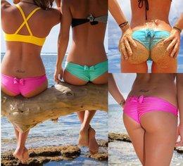 Wholesale 2016 Sexy Girls Swimming Bottom Cute Bowknot Swimming Trucks Summer Beach Saucy Swimwear Bikini Bottom Fashion Lady Wom Bikini Swimwear