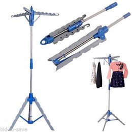 Wholesale Tripod Drying Rack Garment Hanger NEW Collapsible Clothes Dryer Folding