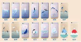 Poissons de silicone pour la pêche à vendre-Pour Iphone 5 5S SE 6 6S Plus 5.5 4.7 Iphone6 0.3mm Ultra mince Cartoon Poissons de mer Dolphin Mermaid eau Drop Crystal TPU Silicon douce peau de cas