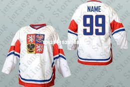 Wholesale Deluxe Edition NAME Czech Republic National Team Hockey Jersey White or Custom any number name Mens Stitched jerseys