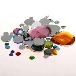 Mixed Sizes Mixed Colors Round Acrylic Loose Non Hotfix Flatback Rhinestones Nail Art Crystal Stones For Wedding Clothing Decorations