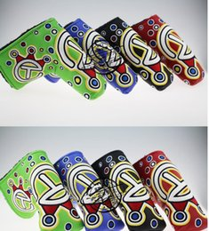 Wholesale sale fashion new golf putter headcover great PU leather HIGH quality golf head covers colors club headcover