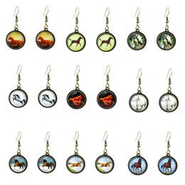 Wholesale 20 Styles fashion earrings women animal horse jewelry vintage style brinco cheap women earing