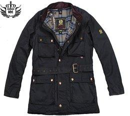 estilo de la manera hombres de la chaqueta del otoño 2016 resorte Marca delgadas de color sólido businese casuales cinturón exterior chaquetas enceradas M-3XL desde chaquetas de los hombres de cera proveedores