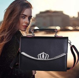 Hot New Korean Fashion Small Square Package Wild Cross Texture Black Handbag Shoulder Bag Messenger Bag