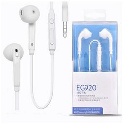 Wholesale Universal EG920 S6 Headset In ear Wired Flat Cable Earphone With Mic Volume Controls Headphone For Samsung Galaxy S6 Edge Plus S7 Note7 A8