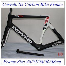 Wholesale Cervelo S5 Carbon Road Frames Glossy Matte Finish Full Carbon Fiber Bicycle Frameset Size cm