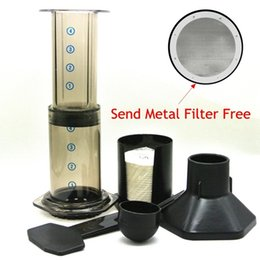 Wholesale 2016 Hot Espresso Portable Coffee Maker Aeropress Coffee Press Maker With Metal Filter Freeshipping