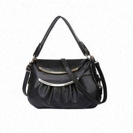 Las mujeres baratas bolsas de cuero negro en venta-Cuero genuino de las mujeres del remiendo bolsas de mensajero bolsas de hombro de lujo bolsos MAMA Bolsas Crossbody LI-616 bolso negro barato