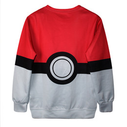 Poke Ball Pokeball Sweater Poke Game Kids Boys Girls Shirt PokéMon Go Games Cartoon Sweaters Pullover Poke Print Sweatshirt Hoodies Tops