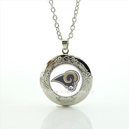 Out of the ordinary jewelry locket necklace St.Louis Rams team Newest mix 32 sport team accessory for men and boys NF055