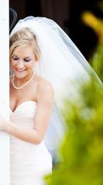 New Top Quality Romantic Chapel Length White Ivory Cut Edge Veil Bridal Head Pieces For Wedding Dresses