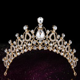 Wholesale Cheap Bridal Tiaras Crystal Crown Wedding Accessories Baroque Queen Crowns Bridal Jewelrys Crystal Hair Accessories Girls Birthday Crowns