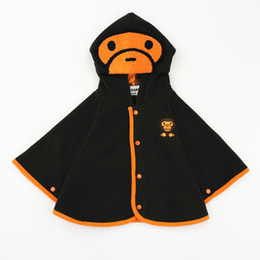 Wholesale Children S Winter Capes - Gold Hands New Children Boys Girls Solid Capes Cartoon Thickening Cotton Cashmere High Quality Kids Autumn Winter Cloaks With Hooded