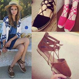 Marca de moda las mujeres calientes alpargatas zapatos correa de tobillo pescador mujer sandalias zapatos de