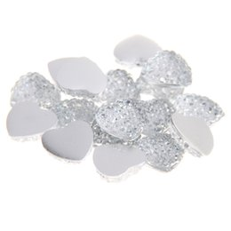 10mm Resin Rhinestones Flatback Heart Shape Crafts Scrapbooking Non Hotfix Beads Use Glue DIY Crafts Wedding Dresses Decorations