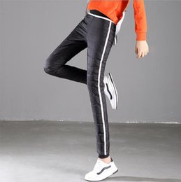 Thick Trousers Womens Winter Slim Outside Casual Winter Warm Down Cotton Pants