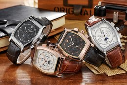 New top designer mens Automatic mechanical wrist watch luxury brand genuine leather Tonneau dial charm man business casual watches gift box