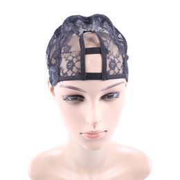 Wholesale Black Machine Made wig Caps Hair Weft making cap weaving caps weave Net Supplier Size Medium Lace Cap